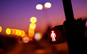 Macro, TRAFFIC LIGHT, lights, yellow, red, bokeh