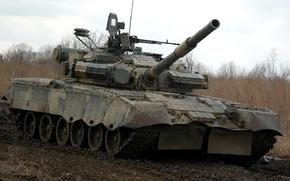 танк, боевой, грязь
