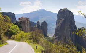 流星, ギリシャ, 道路, 山脈