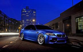 ночь, улица, BMW, бмв