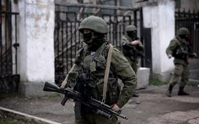 persone educate, soldati, maschera, automatico, Crimea, Sevastopol, militare, casco, Russia, Aerotrasportato