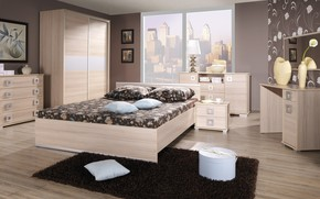 megalopolis, room, design, BEDROOM, style, interior, city