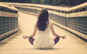 calm, MEDITATION, girl