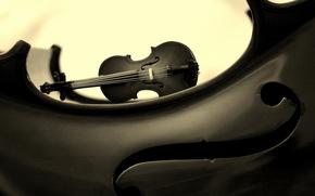 fondo, violín, Música
