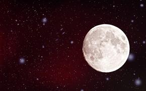 звезды, свечение, луна