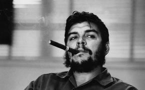 cigar, view, revolutionary, smoke, Che Guevara