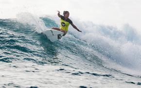 wave, surfing, surfer