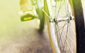 зеленый, размытие, обои, полноэкранные, широкоформатные, велосипед, отдых, широкоэкранные, колесо, фон, настроения, день