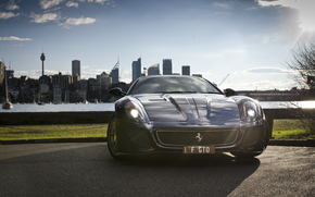 building, Ferrari, home, sea, costs, Ferrari, Black, TRP, city, Drives, before, imple