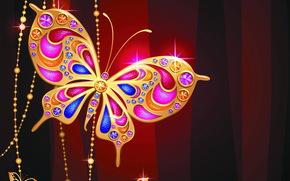 biżuteria, motyl