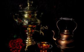 самовар, чайник, натюрморт