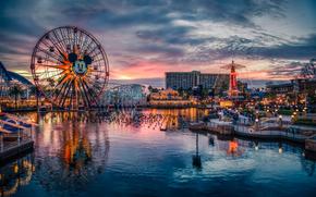 USA, California, Disney'S Paradise Pier