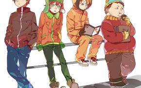 meninos, Arte, rosquinha, anime, revista