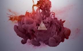 rojo, polvo, estilo, abstracción, triángulo