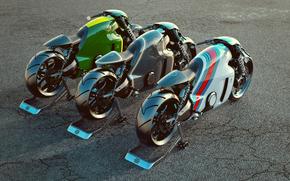 loto, rendere, moto, motocicletta
