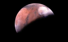 Foto, Schatten, Planeten, Mars