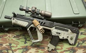 прицел, «Тавор», автомат, оружие, ящик, штурмовая, винтовка