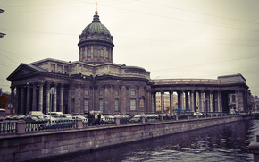 embankment, petersburg, Kazan Cathedral, Peter, river