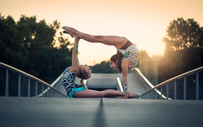 grace, dance, gymnasts, city