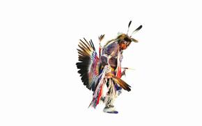 ballare, piumaggio, Injun
