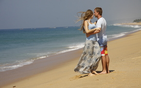 девушка, море, обои, настроения, пара, фон, парень, любовь