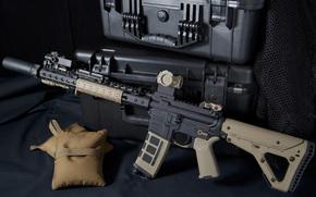 штурмовая винтовка, оружие, ящики