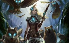 Odissea Outcast, lupi, ragazza, pistole, uccelli