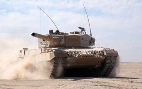 пустыня, боевой, песок, пыль, бронетехника, танк