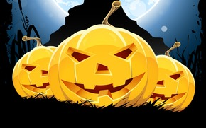 funny pumpkin, smile, Horror, halloween, holiday