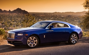 Other brands, desert, Front, Rolls-Royce, Race, background