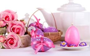 Roses, Pasqua, uova, posa