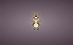 coniglio, lepre, dalle orecchie, animale, minimalismo, denti