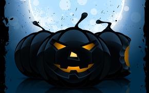 Horror, funny pumpkin, holiday, smile, halloween