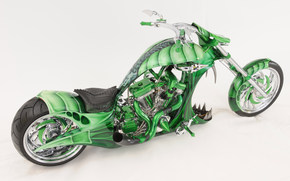 motorcycle, bike, Green, motorcycles, style, form, tuning, aerography, design, background