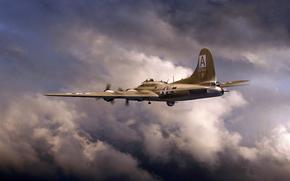 Arte, Fortaleza Voadora, Heavy-metal de quatro motores bombardeiro americano