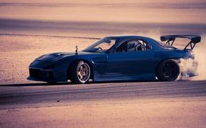 Derivă, Mazda, Mazda, albastru, lateral