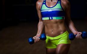 ragazza, Sport, corpo