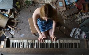 Music, piano, girl