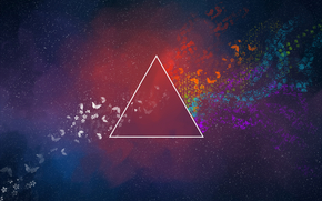 Butterflies, triangle, abstraction