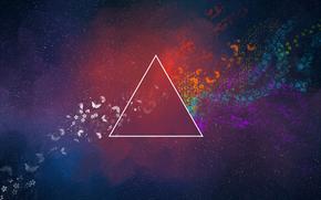 Mariposas, triángulo, abstracción