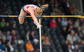 sportswoman, pole vaulting, track and field