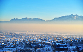 USA, nature, Utah, lake, building, city, Mountains, winter, home