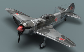 Soviet fighter, propeller, plane