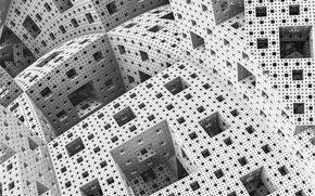 искажение, кубы, рендер, клетки