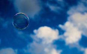 небо, настроения, широкоэкранные, мыльный пузырь, облака, фон, обои, полноэкранные, широкоформатные