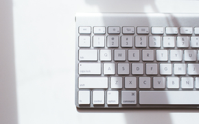 White, keyboard, BUTTONS, letters, hi-tech