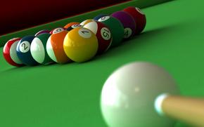 ball, billiards, cue, table