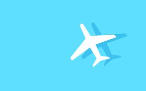 shadow, aviation, fuselage, plane, silhouette