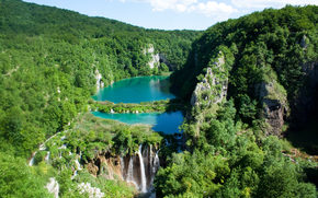 waterfalls, water, Plitvice Lakes, national park