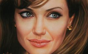 face, Angelina Jolie, actress